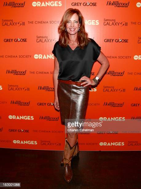 Actress Allison Janney attends The Cinema Society with The Hollywood Reporter Samsung Galaxy S III host a screening of 'The Oranges' at Tribeca...