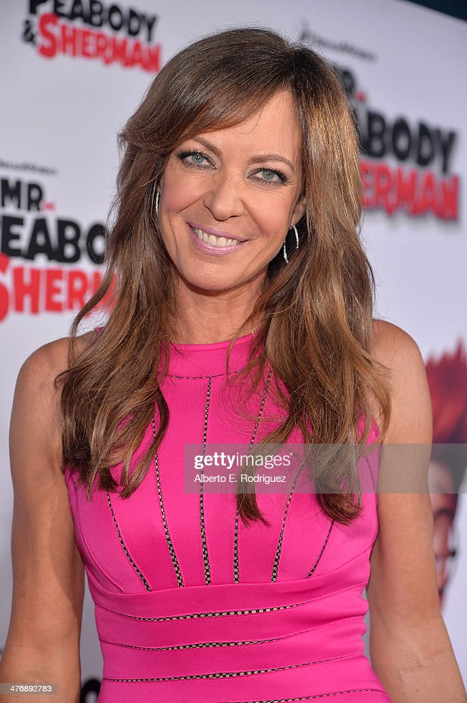 Actress Allison Janney attends the premiere of Twentieth Century Fox and DreamWorks Animation's 'Mr Peabody Sherman' at Regency Village Theatre on...