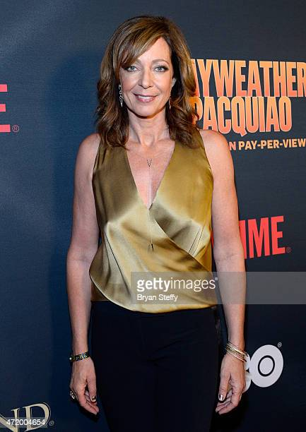 Actress Allison Janney attends the SHOWTIME And HBO VIP PreFight Party for 'Mayweather VS Pacquiao' at MGM Grand Hotel Casino on May 2 2015 in Las...
