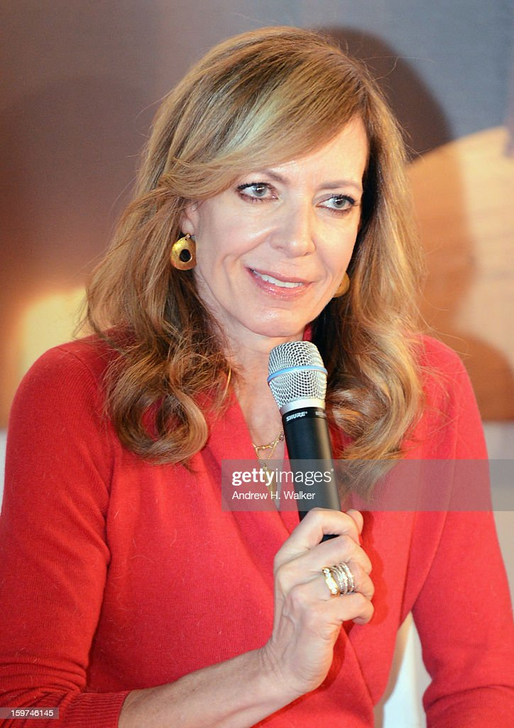Actress <a gi-track='captionPersonalityLinkClicked' href=/galleries/search?phrase=Allison+Janney&family=editorial&specificpeople=206290 ng-click='$event.stopPropagation()'>Allison Janney</a> attends the Stella Artois press junket for Sundance Film 'Touchy Feely' at Village at the Lift on January 19, 2013 in Park City, Utah.