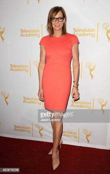 Actress Allison Janney attends the Television Academy's performers peer group celebrating the 66th Emmy Awards at Montage Beverly Hills on July 28...