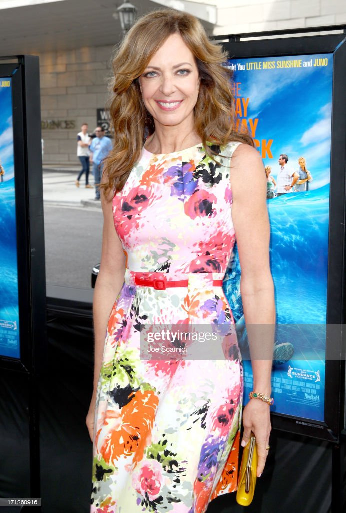 Actress <a gi-track='captionPersonalityLinkClicked' href=/galleries/search?phrase=Allison+Janney&family=editorial&specificpeople=206290 ng-click='$event.stopPropagation()'>Allison Janney</a> attends 'The Way, Way Back' premiere sponsored by DIRECTV during the 2013 Los Angeles Film Festival at Regal Cinemas L.A. Live on June 23, 2013 in Los Angeles, California.
