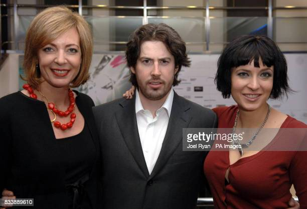 Actress Allison Janney director Jason Reitman and writer Diablo Cody arrive for the 51st BFI London Film Festival screening of the film Juno at the...