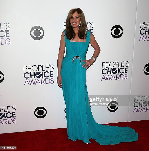 Actress Allison Janney poses in the press room at the 2015 People's Choice Awards at the Nokia Theatre LA Live on January 7 2015 in Los Angeles...