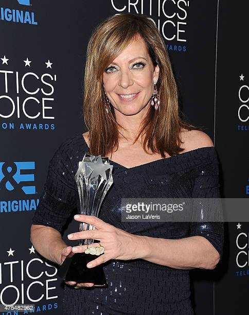 Actress Allison Janney poses in the press room at the 5th annual Critics' Choice Television Awards at The Beverly Hilton Hotel on May 31 2015 in...