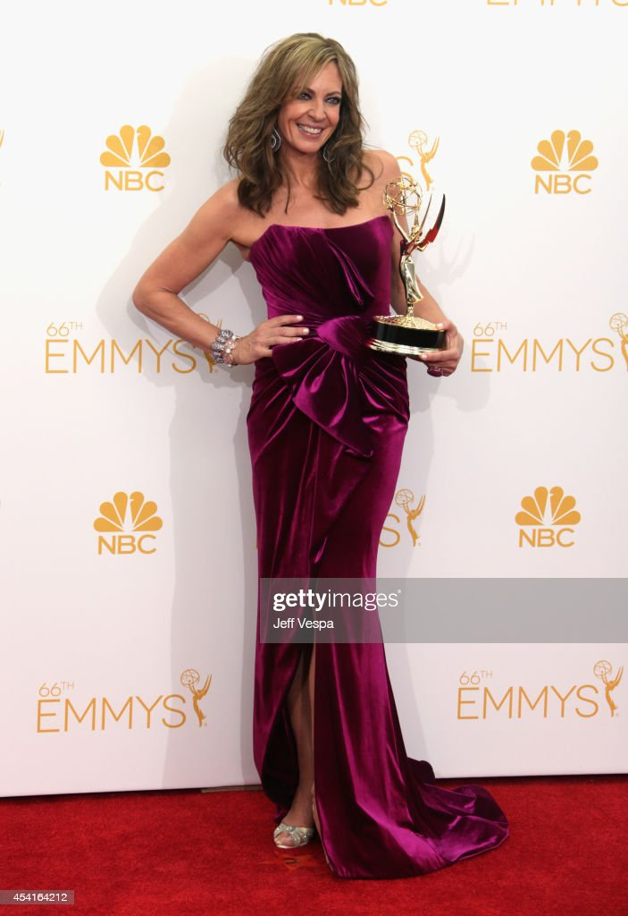 Actress Allison Janney poses in the press room during the 66th Annual Primetime Emmy Awards at Nokia Theatre L.A. Live on August 25, 2014 in Los Angeles, California.