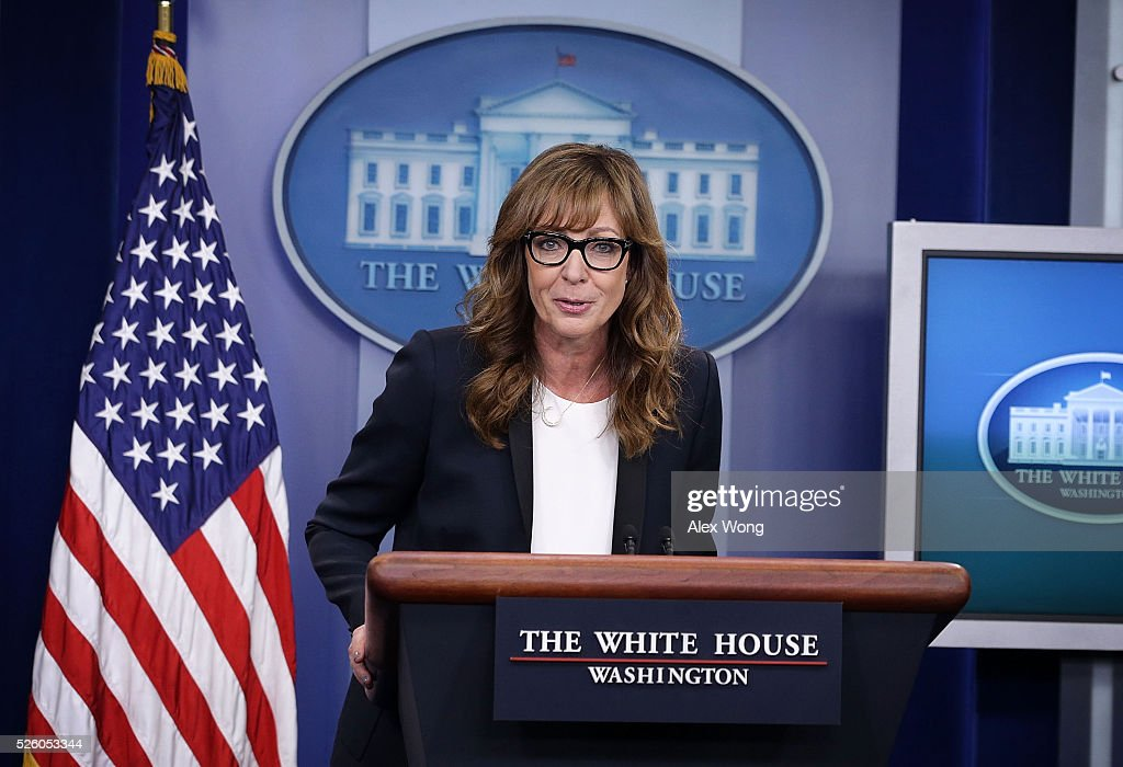 West Wing Actress Allison Janney Makes Appearance In White House Briefing Room