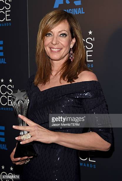 Actress Allison Janney winner of Best Supporting Actress in a Comedy poses in the press room at the 5th Annual Critics' Choice Television Awards at...
