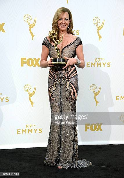 Actress Allison Janney winner of Outstanding Supporting Actress in a Comedy Series for 'Mom' poses in the press room at the 67th Annual Primetime...