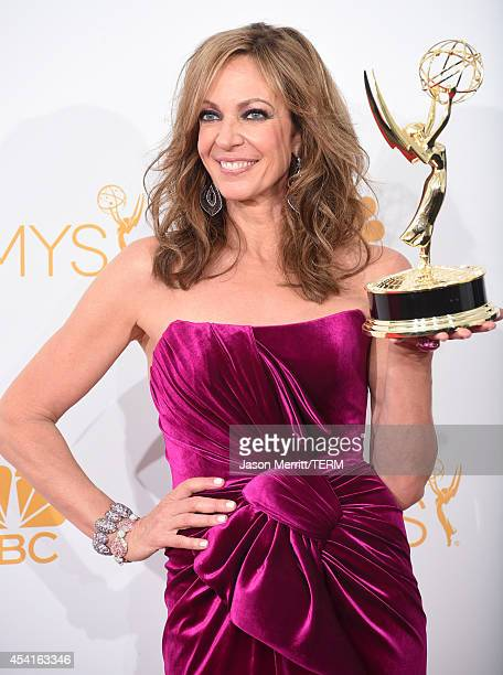 Actress Allison Janney winner of the Outstanding Supporting Actress in a Comedy Series Award for 'Mom' poses in the press room during the 66th Annual...