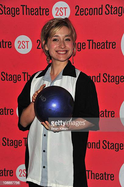 Actress Allison Mack attends Second Stage Theatre's All Star Bowling Classic fundraier at Lucky Strike Lanes Lounge on February 7 2011 in New York...