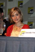 Actress Allison Mack attends the 'Smallville' panel on day 4 of the 2009 ComicCon International Convention on July 26 2009 in San Diego California