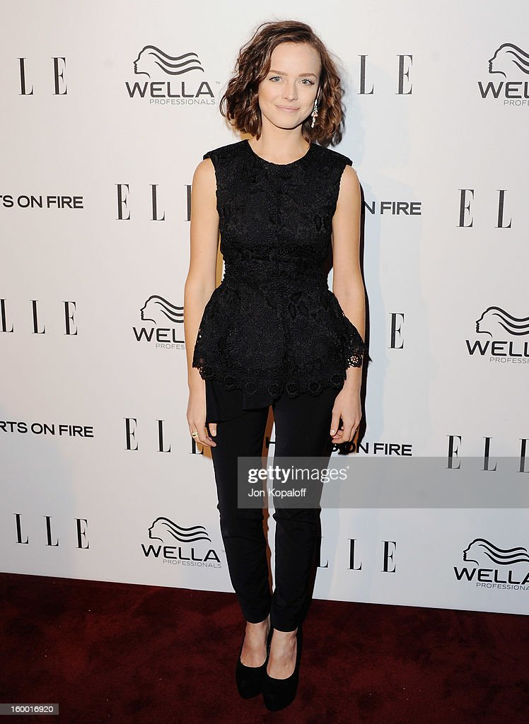 Actress Allison Miller arrives at ELLE's 2nd Annual Women In TV Event at Soho House on January 24, 2013 in West Hollywood, California.