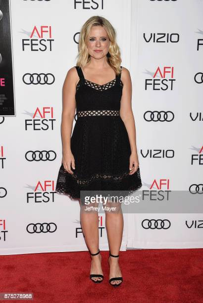 Actress Allison Munn attends AFI FEST 2017 Closing Night Gala Screening of 'Molly's Game' at TCL Chinese Theatre on November 16 2017 in Hollywood...
