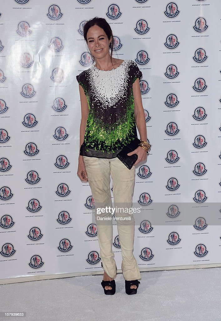 Actress Allison Sarofim attends a private dinner celebrating Remo Ruffini and Moncler's 60th Anniversary during Art Basel Miami Beach on December 7, 2012 in Miami Beach, Florida.