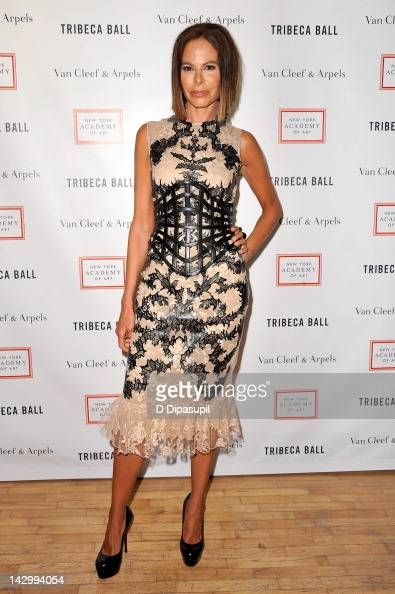 Actress Allison Sarofim attends the Tribeca Ball 2012 at New York Academy of Art on April 16 2012 in New York City