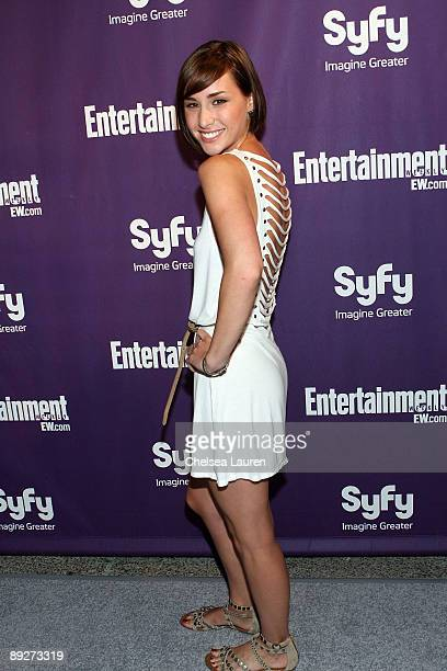 Actress Allison Scagliotti attends the Entertainment Weekly and Syfy party celebrating ComicCon at Hotel Solamar on July 25 2009 in San Diego...