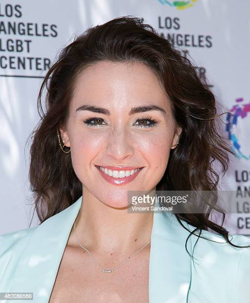 Actress Allison Scagliotti attends the Los Angeles LGBT Center annual garden party on July 26 2015 in Los Angeles California