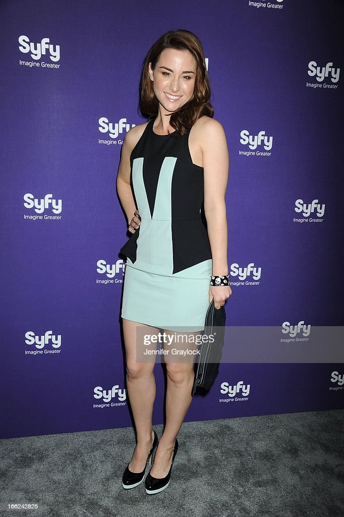 Actress Allison Scagliotti attends the Syfy 2013 Upfront at Silver Screen Studios at Chelsea Piers on April 10, 2013 in New York City.