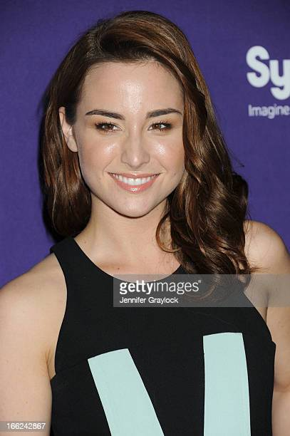 Actress Allison Scagliotti attends the Syfy 2013 Upfront at Silver Screen Studios at Chelsea Piers on April 10 2013 in New York City