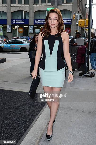Actress Allison Scagliotti leaves her Soho hotel on April 10 2013 in New York City