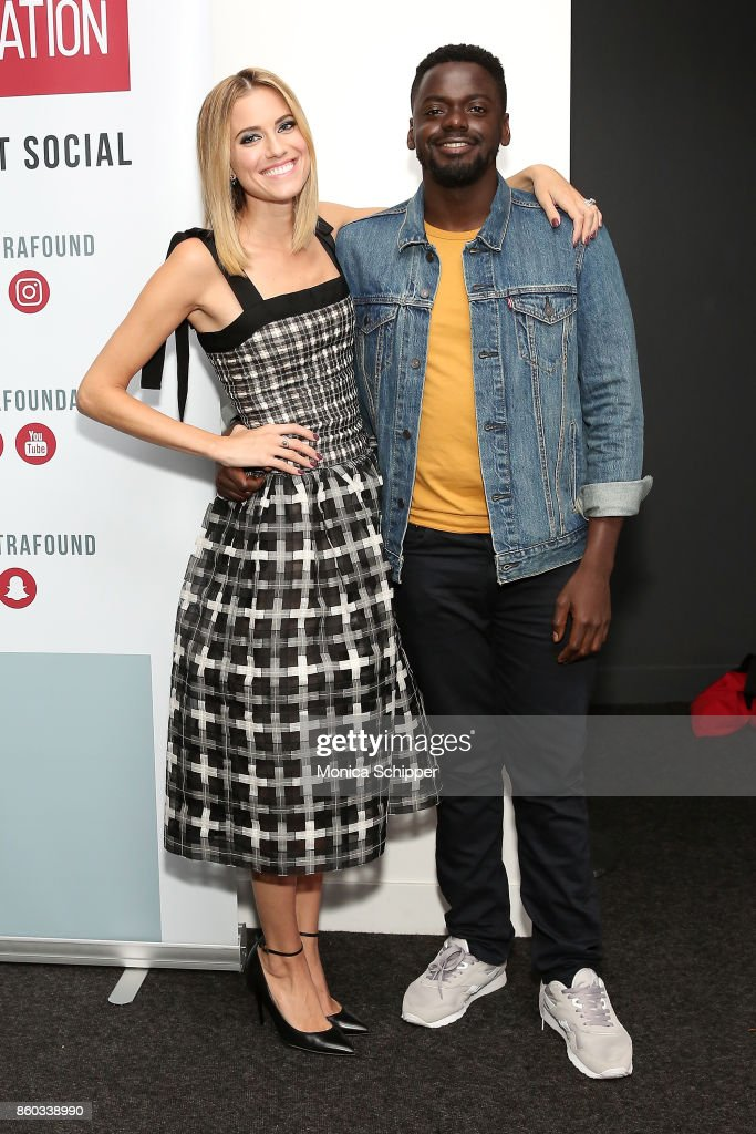 Actress Allison Williams (L) and actor Daniel Kaluuya attend SAG-AFTRA Foundation Conversations 'Get Out' + Allison Williams and Daniel Kaluuya at SAG-AFTRA Foundation Robin Williams Center on October 11, 2017 in New York City.