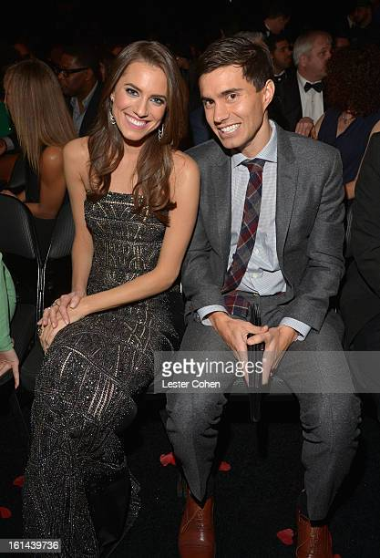 Actress Allison Williams and Ricky Van Veen attend the 55th Annual GRAMMY Awards at STAPLES Center on February 10 2013 in Los Angeles California