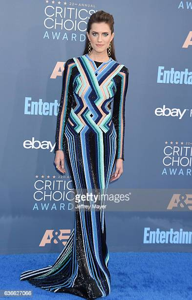 Actress Allison Williams arrives at The 22nd Annual Critics' Choice Awards at Barker Hangar on December 11 2016 in Santa Monica California