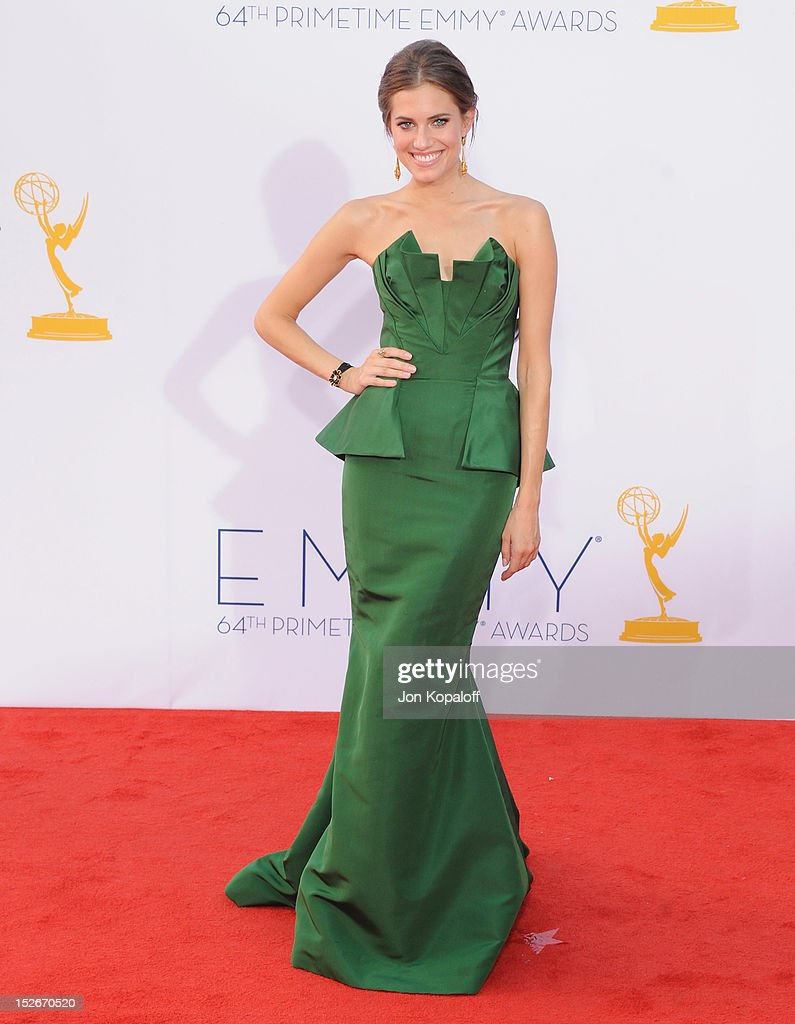 Actress Allison Williams arrives at the 64th Primetime Emmy Awards at Nokia Theatre L.A. Live on September 23, 2012 in Los Angeles, California.