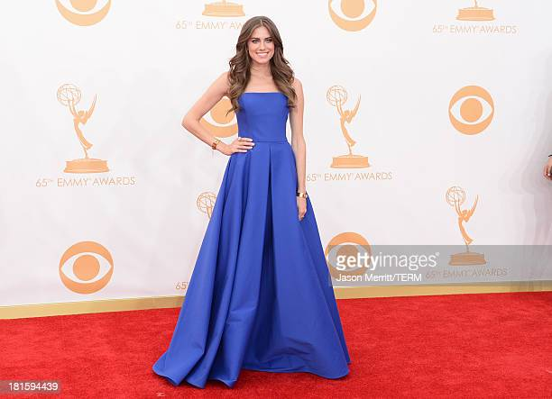 Actress Allison Williams arrives at the 65th Annual Primetime Emmy Awards held at Nokia Theatre LA Live on September 22 2013 in Los Angeles California