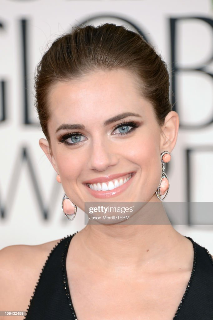 Actress Allison Williams arrives at the 70th Annual Golden Globe Awards held at The Beverly Hilton Hotel on January 13, 2013 in Beverly Hills, California.