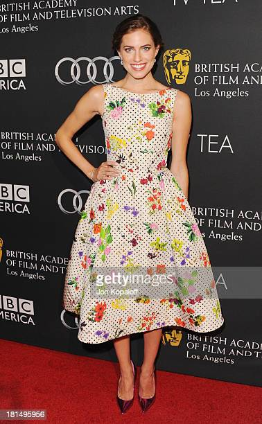 Actress Allison Williams arrives at the BAFTA Los Angeles TV Tea 2013 on September 21 2013 in Beverly Hills California