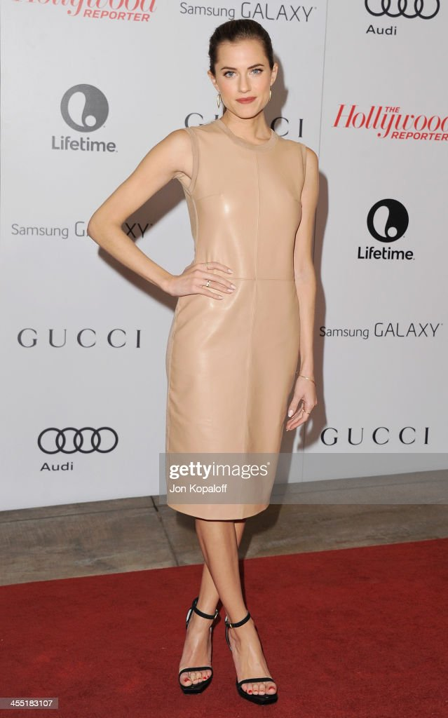 Actress <a gi-track='captionPersonalityLinkClicked' href=/galleries/search?phrase=Allison+Williams+-+Actress&family=editorial&specificpeople=594198 ng-click='$event.stopPropagation()'>Allison Williams</a> arrives at The Hollywood Reporter's 22nd Annual Women In Entertainment Breakfast 2013 at Beverly Hills Hotel on December 11, 2013 in Beverly Hills, California.
