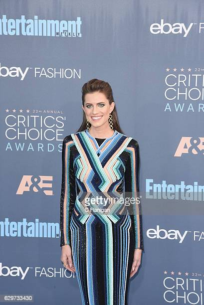 Actress Allison Williams arrives at the The 22nd Annual Critics' Choice Awards at Barker Hangar on December 11 2016 in Santa Monica California