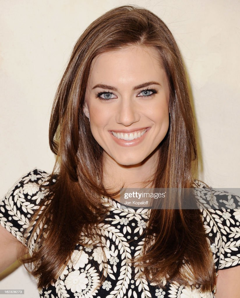 Actress Allison Williams arrives at Tom Ford Cocktails In Support Of Project Angel Food Media at TOM FORD on February 21, 2013 in Beverly Hills, California.