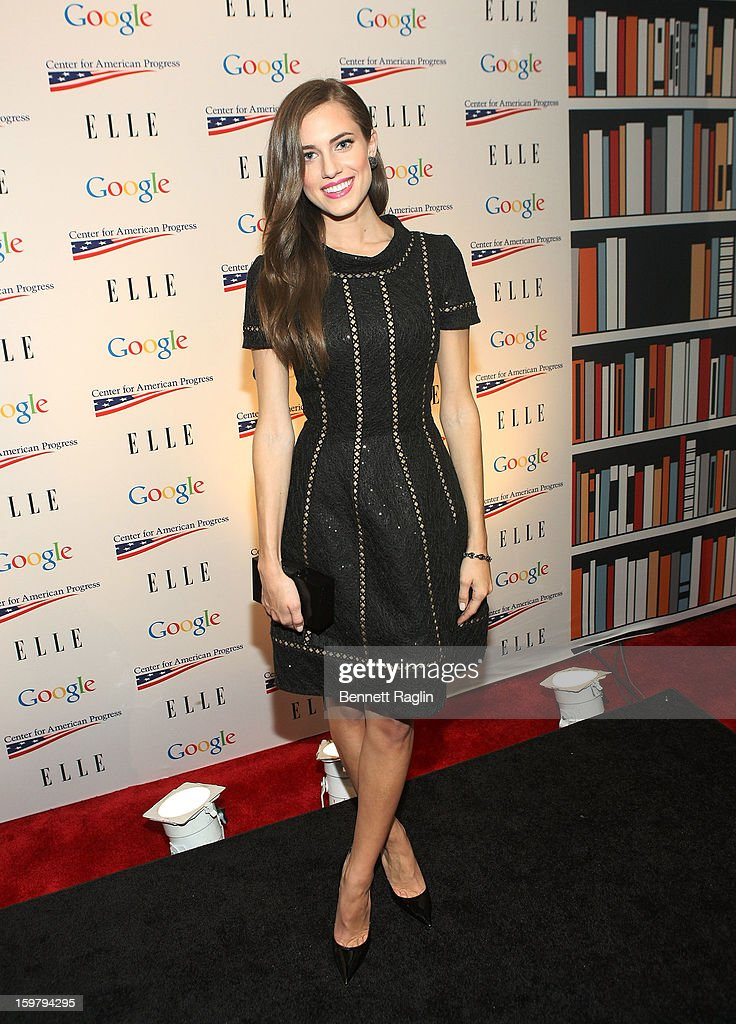 Actress Allison Williams attends a celebration for leading women in Washington hosted by GOOGLE, ELLE, and The Center for American Progress on January 20, 2013 in Washington, United States.