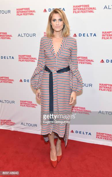 Actress Allison Williams attends a red carpet for 'Anatomy of a Scene Get Out' during Hamptons International Film Festival 2017 Day Four on October 8...