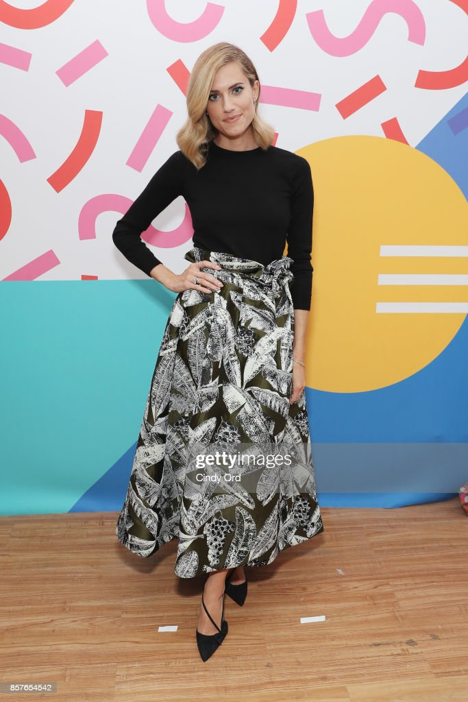 Actress Allison Williams attends Brit + Co Kicks Off Experiential Pop-Up #CreateGood with Allison Williams and Daphne Oz at Brit + Co on October 4, 2017 in New York City.