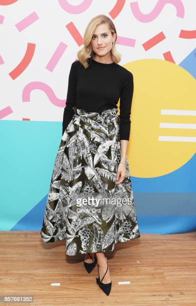 Actress Allison Williams attends Brit Co Kicks Off Experiential PopUp #CreateGood with Allison Williams and Daphne Oz at Brit Co on October 4 2017 in...