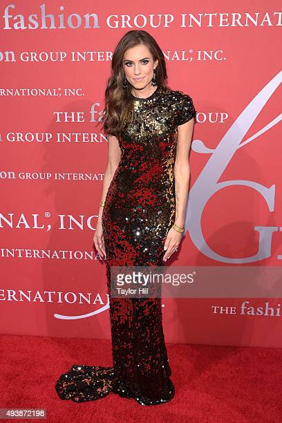 Actress Allison Williams attends Fashion Group International's 2015 Night of Stars The Revolutionaries at Cipriani Wall Street on October 22 2015 in...