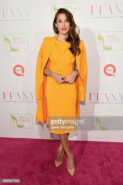 Actress Allison Williams attends QVC presents 'FFANY Shoes on Sale' on October 19 2015 at the Waldorf Astoria Hotel in New York City