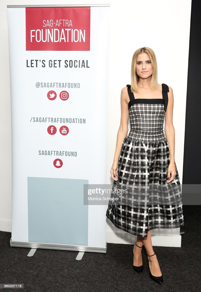 Actress Allison Williams attends SAG-AFTRA Foundation Conversations 'Get Out' + Allison Williams and Daniel Kaluuya at SAG-AFTRA Foundation Robin Williams Center on October 11, 2017 in New York City.