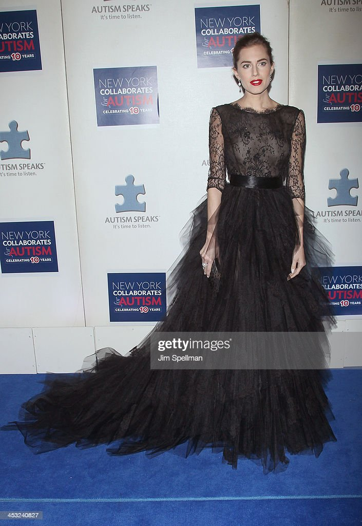 Actress Allison Williams attends the 2013 Winter Ball For Autism the at Metropolitan Museum of Art on December 2, 2013 in New York City.