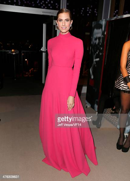 Actress Allison Williams attends the 2014 Vanity Fair Oscar Party Hosted By Graydon Carter on March 2 2014 in West Hollywood California