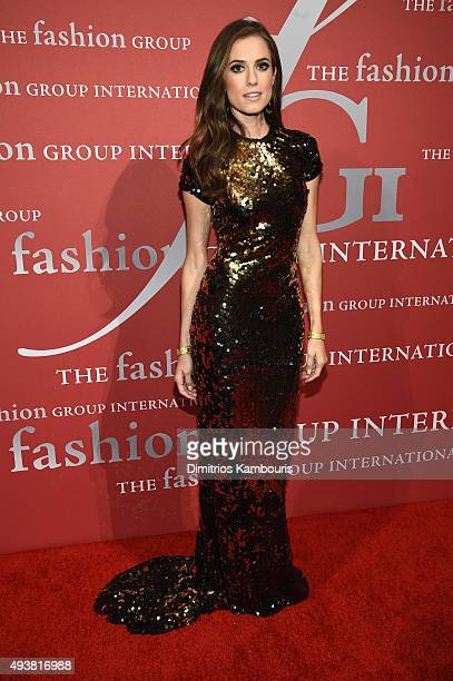 Actress Allison Williams attends the 2015 Fashion Group International Night Of Stars Gala at Cipriani Wall Street on October 22 2015 in New York City