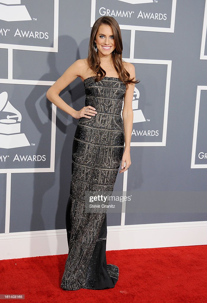 Actress Allison Williams attends the 55th Annual GRAMMY Awards at STAPLES Center on February 10, 2013 in Los Angeles, California.