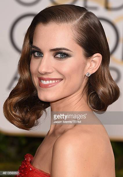 Actress Allison Williams attends the 72nd Annual Golden Globe Awards at The Beverly Hilton Hotel on January 11 2015 in Beverly Hills California