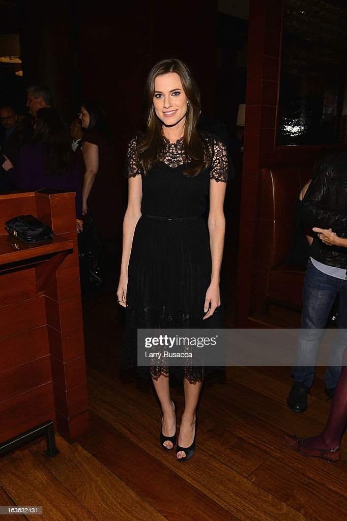 Actress Allison Williams attends the after party for the 'Phil Spector' premiere at the Time Warner Center on March 13, 2013 in New York City.