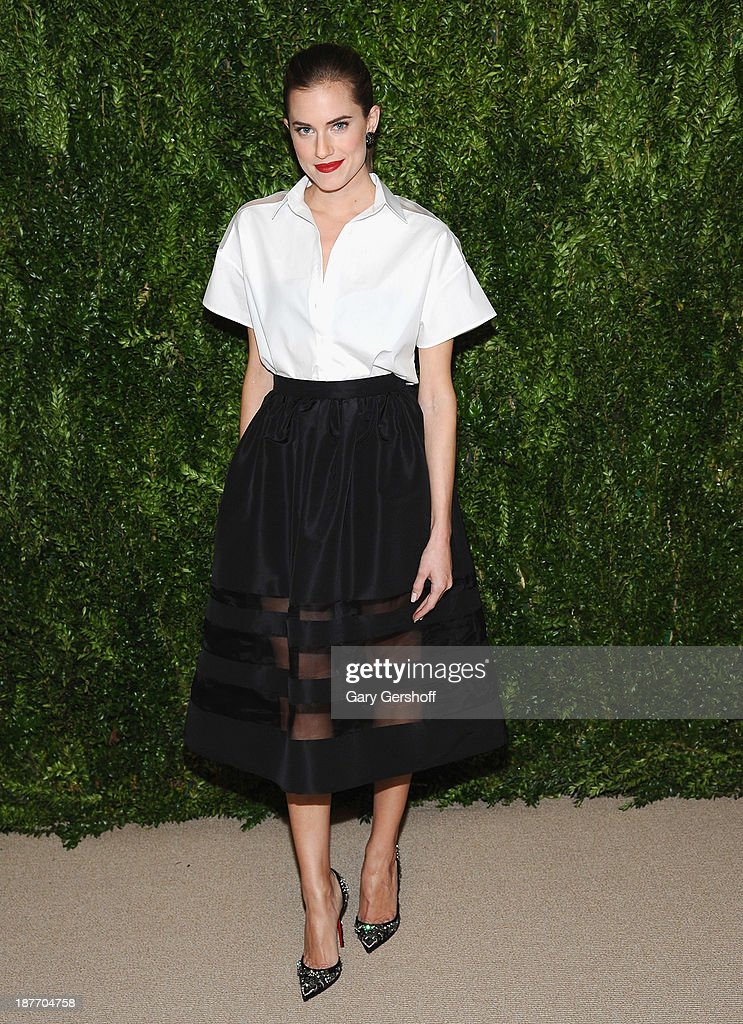Actress <a gi-track='captionPersonalityLinkClicked' href=/galleries/search?phrase=Allison+Williams+-+Actress&family=editorial&specificpeople=594198 ng-click='$event.stopPropagation()'>Allison Williams</a> attends The CFDA and Vogue 2013 Fashion Fund Finalists Celebration at Spring Studios on November 11, 2013 in New York City.