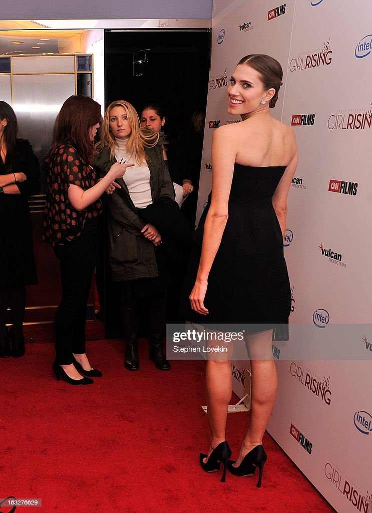Actress Allison Williams attends the 'Girl Rising' premiere at The Paris Theatre on March 6, 2013 in New York City.